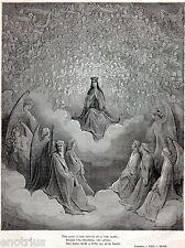 PARADISO: LA MADONNA. Empireo.Dio.Beati. Gustave Doré.Dante.Divina Commedia.1880
