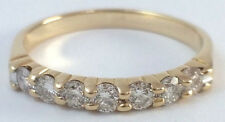 ~ 0.5 ct Kuber 14K Yellow Gold Round Diamond Wedding Fashion Band Ring