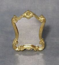 DOLLS HOUSE 1/12 SCALE VICTORIAN MIRROR WITH  GILT FRAME