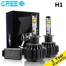 60W 7200LM Cree LED Headlight Kit H1 6000K Bulbs White Color 2 pieces