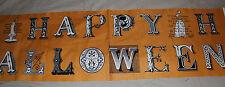 Sew Scary Happy Halloween 100% COTTON FABRIC PANEL FREE SHIP USA 12.5 X 44 wide