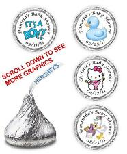 108 BABY SHOWER HERSHEY KISSES LABELS FAVORS PERSONALIZED BOY GIRL WRAPPERS