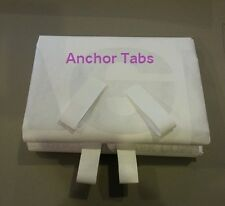 "Ultralight White Tyvek Tent Footprint Material  ""sold the foot""  w/ Anchor loops"