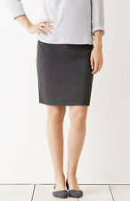 J Jill - PS (6P/8P) - NWT $69 - Charcoal Gray Ponte Knit Pull-On Pencil Skirt