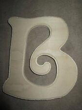 "Unpainted ""B"" Wooden Wedding Party Home Decor Nursery Alphabet Letter - NEW"