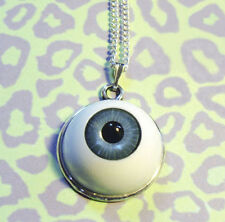 EYEBALL PENDANT NECKLACE 22mm WIDE GOTHIC GREY *HALLOWEEN SPECIAL*