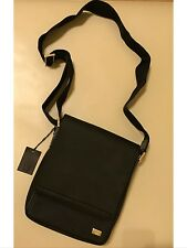 NWT Dunhill Men crossbody connaught north south bag messenger black leather