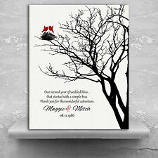 (LT-1365) Personalized 2nd Year Anniversary Personalized Family Wedding Tree ...