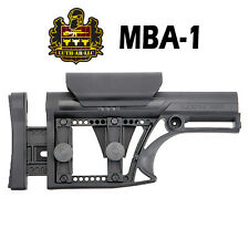 Luth MBA-1 Fixed Stock Modular Buttstock Assembly Adjustable Cheek Rest - Black