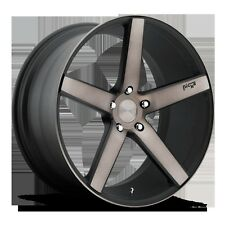 "22"" Niche Wheels Concave Milan Stagger Black Rims BMW X5 650 747 750 20 19 X6 21"
