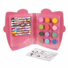29pc DISNEY PASTELLI & VERNICE + fogli da colorare disegno ART SET & Travel Case