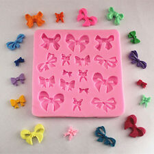 Cake Mold Butterfly Bow Knot Design Silicone Fondant Decorating Mould Tool Pink