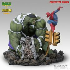 SIDESHOW AP INCREDIBLE HULK Vs SPIDER-MAN Diorama STATUE Red Grey Bust PREMIUM