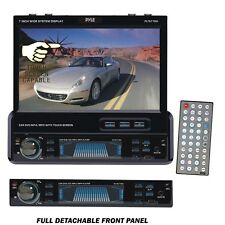"Pyle PLTS77DU 7"" Single DIN Touchscreen DVD/CD/MP3/MP4/USB/SD/AM-FM Receiver"