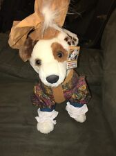Wishbone Romeo Shakespeare Stuffed Plush Dog Jack Russell 1996 Equity Toys 12 In