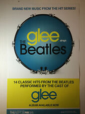 Glee RARE Sings The Beatles Poster Promo NEW + FREE POSTER! Lennon McCartney