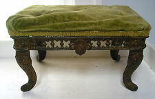 "Antique Cast Iron Ornate FootStool Shabby-Victorian- French Style 14""X10"",8""tall"