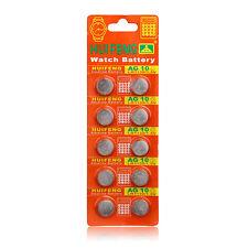 100 pcs AG10 1.5V LR1130 SR1130 LR54 SR54 389 189 G10 Button Cell Coin Battery