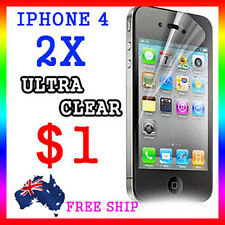 2x LCD HQ Ultra Clear Screen Film Display Protector Apple Guard iphone4G 4S 4