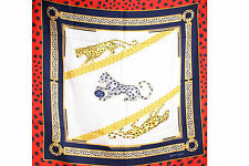 "CARTIER SEIDENTUCH TUCH ""MUST DE CARTIER"" CARRE SCARF SILK HALSTUCH EDEL & RAR"