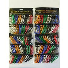 """Lot of 120 2 1/8"""" Carabiners Spring Belt Clip Key Chain Aluminum Wholesale Mixed"""