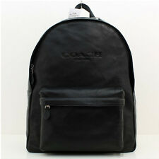 NWT MEN'S Soft Grain COACH CAMPUS BACKPACK IN SMOOTH LEATHER Black F72120