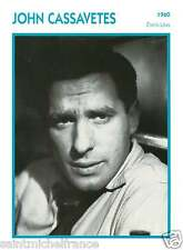 JOHN CASSAVETES  ACTEUR ACTOR FICHE CINEMA USA 90s