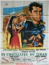 LA CHATELAINE DU LIBAN Affiche Cinéma ORIGINALE / Movie Poster OMAR SHARIF GRECO