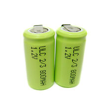 6 Ultracell 2/3 AA 800mAh NiMH 1.2V Volt Rechargeable Battery Pack Solder W/Tab