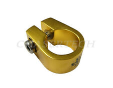 """New Uno MTB BMX Bicycle Bike Seat Post Clamp 1"""" 25.4mm Hex Bolt Gold"""