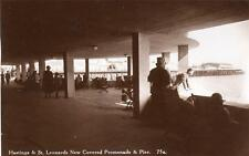 New Covered Promenade & Pier Hastings St Leonards unused RP old pc Norman