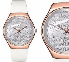Original Lacoste Uhr Damenuhr 2000788 VALENCIA Farbe:Rose Gold Weiß NEU
