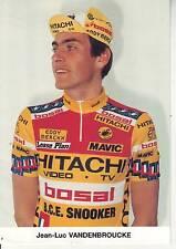 CYCLISME carte  cycliste JEAN LUC VANDENBROUCKE équipe HITACHI