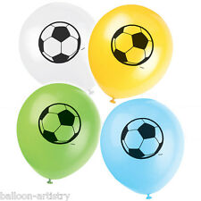 "8 Football Soccer Sports Children's Birthday Party 12"" Printed Latex Balloons"