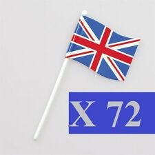 72 Union Jack British Sandwich Party Flag Food Cup Cake Cocktail Sticks Picks