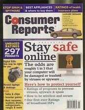 CONSUMER REPORTS MAGAZINE SEPTEMBER 2005 STAY SAFE ONLINE STOP SPAM & SPYWARE