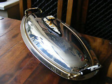 Large Oval MGM Inox 18/10 Italy Serving Fish Tray Platter & Lid Stainless Steel