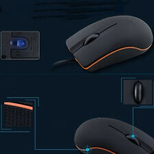 USB Mini 3D Wired Optical Mouse For Lenove M20 PC Laptop Computer XP Win 7 Black