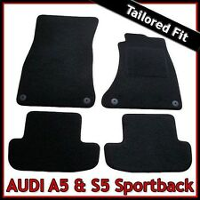 Audi A5 / S5 Mk1 2007-2016 Sportback Tailored Fitted Carpet Car Mats BLACK