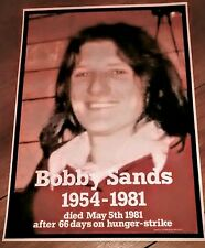 IRISH REPUBLICAN BOBBY SANDS POLITICAL PRISONER 1981 HUNGER STRIKE LONG KESH...