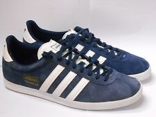 adidas ORIGINAL GAZELLE OG UK 8 SHOES INDIGO WHITE TRAINER SHOE RRP £70/-