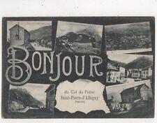 Bonjour du Col de Frene Saint Pierre d'Albigny France 1918 Postcard 709a