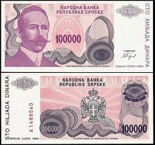 Bosnia Herzegovina 100000 DINARA 1993 P 151 UNC