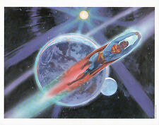 PAINTED SUPERMAN MOVIE LOBBY CARD 1978 - Superman in Space