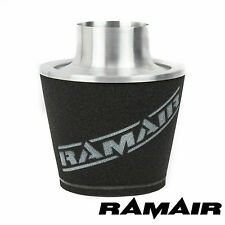 RAMAIR LARGE ALUMINIUM INDUCTION AIR FOAM FILTER UNIVERSAL 100mm NECK - COSWORTH