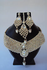 Bollywood Style Indian Rose Gold Fashion Jewelry Designer Bridal Necklace Set