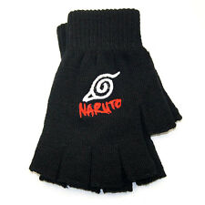 Anime Naruto Uzumaki Leaf Village Hokage Cosplay Cotton Knitted Gloves Mittens