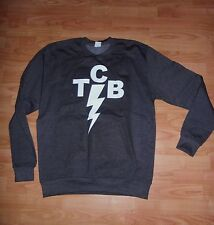 **TCB** ELVIS PRESLEY UNOFFICIAL TAKING CARE GREY SWEATER SIZE L NEW