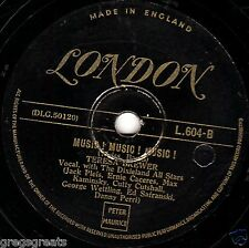 1950 #1 TERESA BREWER 78  MUSIC! MUSIC! MUSIC! / COPENHAGEN  GOLD LONDON L604 V+