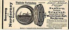 Ballin`s Dampfschiff-Reederei-Gesellschaft Hamburg  Historische Reklame von 1893